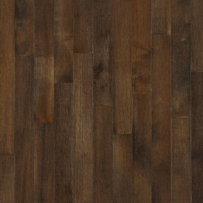 "Bruce Flooring Kennedale Strip 2-1/4"" Solid Dark Maple Flooring in Cappuccino"