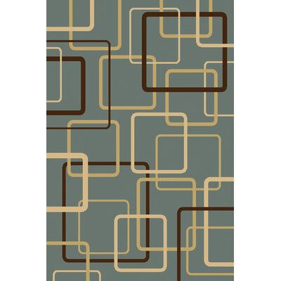 Interlude Circuitry Grey/Blue Rug