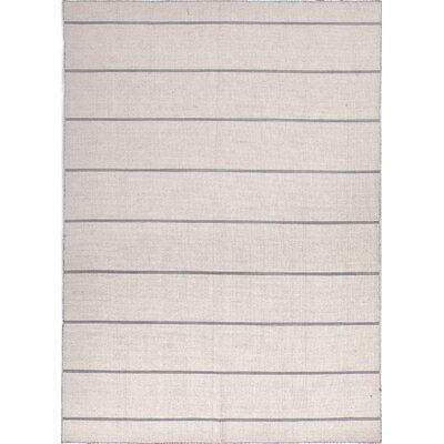 Jaipur Rugs C. L. Dhurries Ivory/Gray Stripe Rug