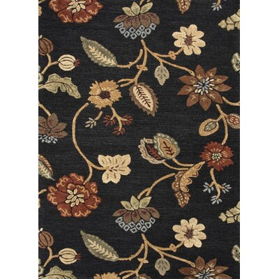 Blue Black/Yellow Floral Rug