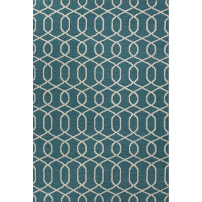 Urban Bungalow Geometric Blue/Ivory Rug
