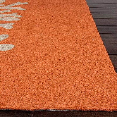 Jaipur Rugs Grant Bough Out Orange Gray Indoor/Outdoor Rug