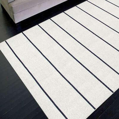 Jaipur Rugs C. L. Dhurries Ivory/Black Stripe Rug