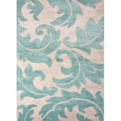 Blue Antique White Floral Rug