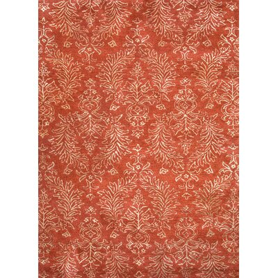 Baroque Orange Floral Rug