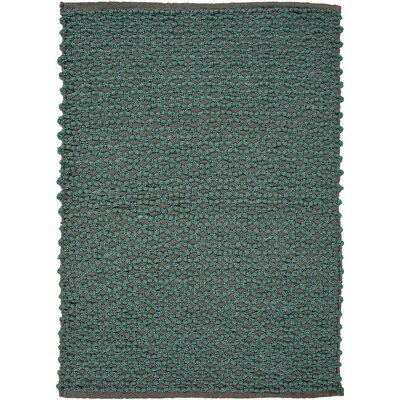 Cosmos Meadow Aqua Stripe Rug