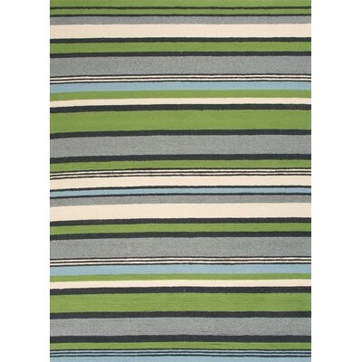 Colours I-O Green Stripe Rug