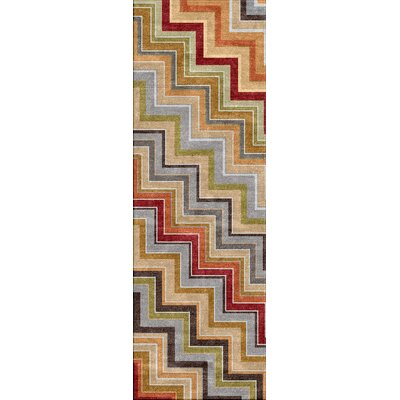 Jaipur Rugs Colours I-O Red/Orange Zigzag Rug