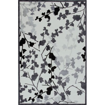 Fables White/Gray Floral Rug
