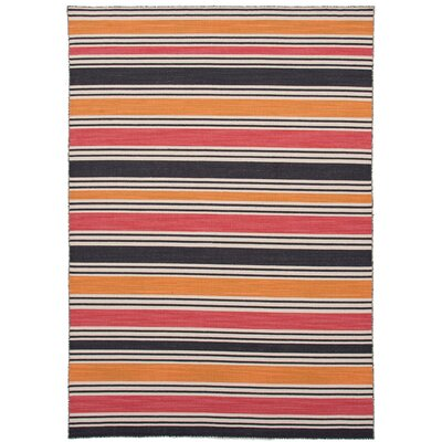 Pura Vida Amber Glow/Medium Rose Stripe Rug