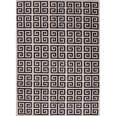 Urban Bungalow Black Geometric Rug