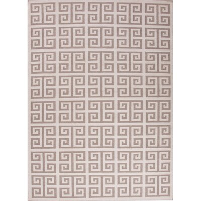 Urban Bungalow White Geometric Rug