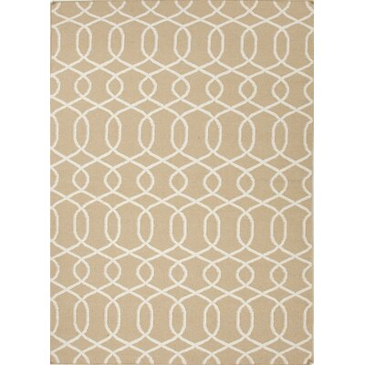 Urban Bungalow Beige/White Geometric Rug
