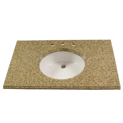 "Vintage Stone 22"" x 37"" Granite Vanity Top with 8"" Centers"
