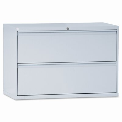 Alera® Two-Drawer Lateral File Cabinet, 42w x 19-1/4d x 29h, Light Gray