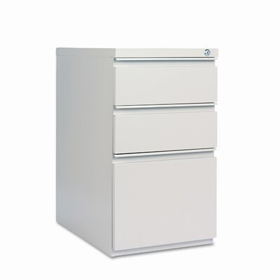 "Alera® 23"" Three-Drawer Mobile Pedestal File with Full-Length Pull"