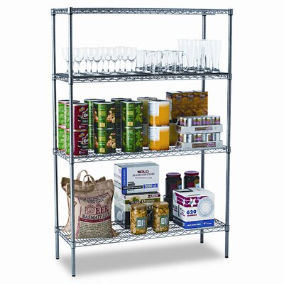 "Alera® Industrial Wire 72"" H 3 Shelf Shelves Shelving Starter Kit"
