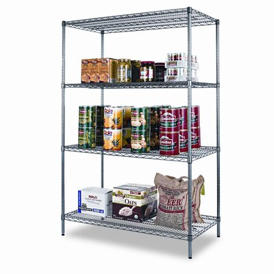 "Alera® Industrial Wire 72"" H 3 Shelf Shelving Unit Starter Kit"