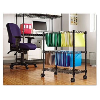 "Alera® Two-Tier 30"" H x 26"" W Rolling File Cart"