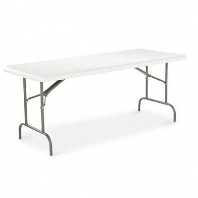 Alera® Resin Folding Table, Rectangular, 600lb Capacity, 72w x 30d x 29h, Platinum
