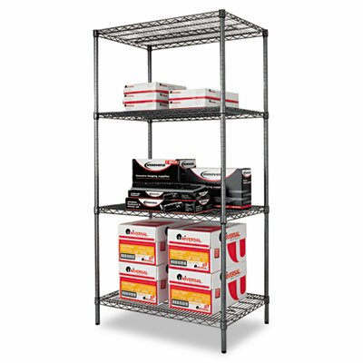 "Alera® 36"" W x 24"" D Industrial Wire Shelving Starter Kit in Black"