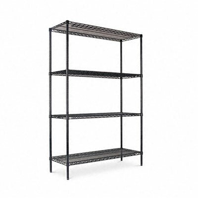 "Alera® Four-shelf 48"" W x 18"" D Industrial Wire Shelving Starter Kit"