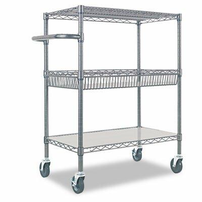 "Alera® 40"" 3-Tier Rolling Cart"