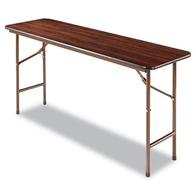 Alera® Rectangular Folding Table in Walnut