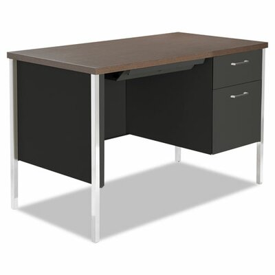 Alera® Computer Desk with Single Pedestal