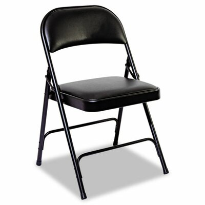 Alera® Steel Folding Chair with Padded Back and Seat (Set of 4)