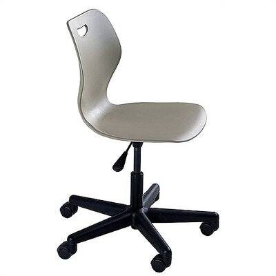 "KI Furniture Wave Series Adjustment Height 16.5"" - 21.5"" Steel Classroom Pedestal Chair"