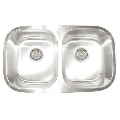 "Artisan Sinks Premium Series 30"" x 17.75"" x 10""/8"" Double Bowl Undermount Kitchen Sink"