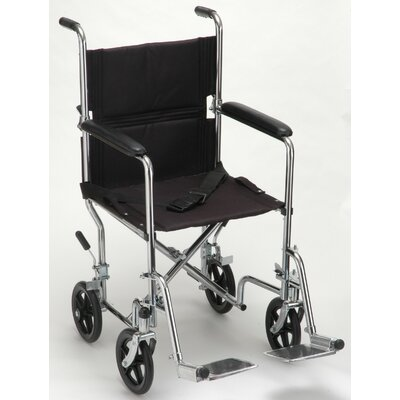 Steel Transport Chair in Chrome