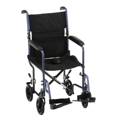 "Nova Ortho-Med, Inc. 19"" Steel Transport Chair"