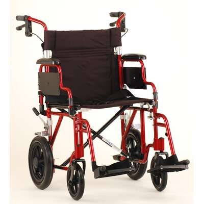 "Nova Ortho-Med, Inc. Nova Comet 352 19"" Lightweight Transport Bariatric Wheelchair with Removable Desk Arms"