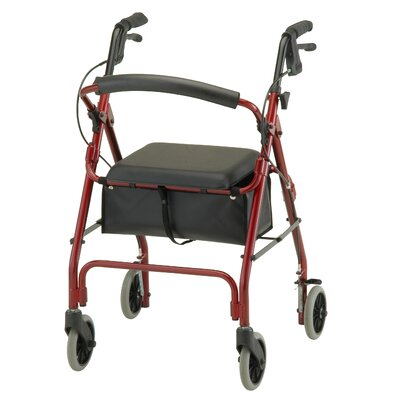 Nova Ortho-Med, Inc. Cruiser Deluxe Classic Walker with Detachable Flip Back