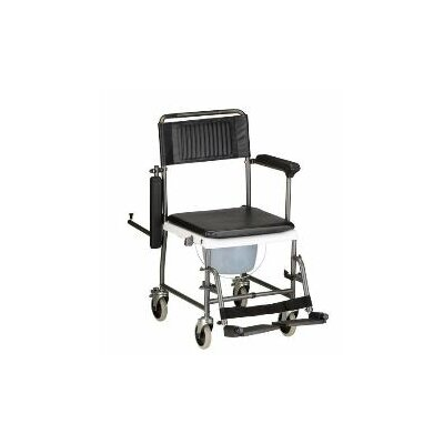 Nova Ortho-Med, Inc. Drop Arm Commode Transport Chair with Wheels