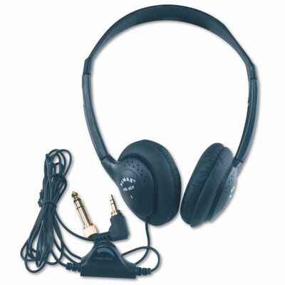 AmpliVox Sound Systems Personal Multimedia Volume Control Stereo Headphones