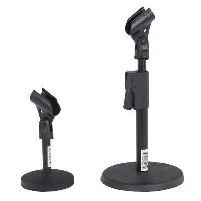 AmpliVox Sound Systems Quick-Release Adjustable Desk Mic Stand