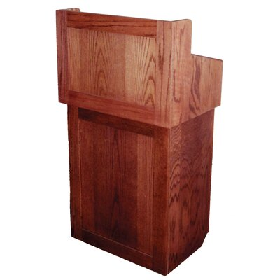 AmpliVox Sound Systems Non Sound Oxford Two Piece Lectern in Oak