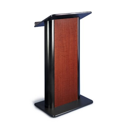 AmpliVox Sound Systems Sippling Seattle Lectern Java with Black Anodized Aluminum
