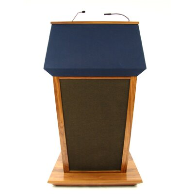 AmpliVox Sound Systems Patriot Plus Lectern in Natural Walnut