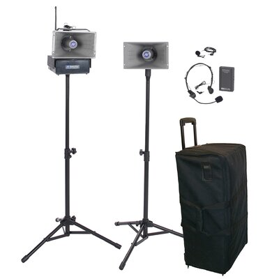 AmpliVox Sound Systems Wireless Half-Mile 50 Watt Hailer