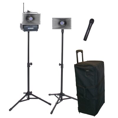 AmpliVox Sound Systems Wireless Handheld Half-Mile Hailer Kit