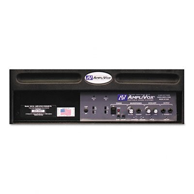 AmpliVox Sound Systems Amplipod Portable Podium PA System, 50-Watt Multimedia Amplifier w/3 Mic Inputs