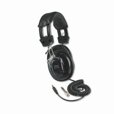AmpliVox Sound Systems Deluxe Stereo Headphones with Mono Volume Control, Aqua