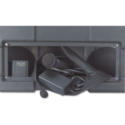 AmpliVox Sound Systems Amplipod Wireless Portable Podium/Lectern, Black