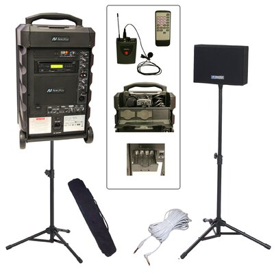 AmpliVox Sound Systems Titan 800L Wireless Portable PA Bundle