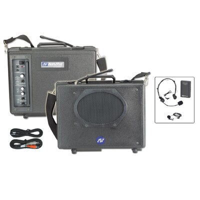 AmpliVox Sound Systems Wireless Audio Portable Buddy 50 Watt PA System