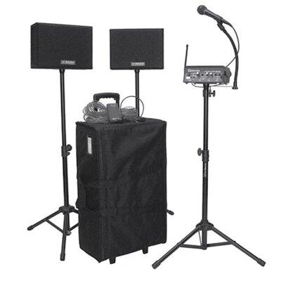 AmpliVox Sound Systems Wireless Powered Speaker Voice Carrier 50 Watt PA System